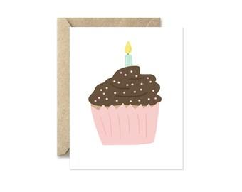 Birthday Cupcake - Greeting Card
