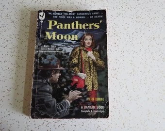 Panthers' Moon by Victor Canning Vintage Bantam Pulp Fiction Paperback Novel
