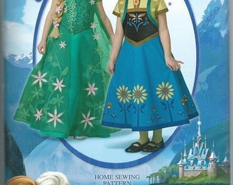 Frozen Simplicity Sewing Pattern W0733 Anna Elsa Froze Fever Costume