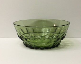 Continental Can Co. Large Serving Bowl | Green | Thumbprint Pattern