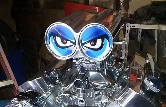 Shotgun Air Scoop Eyes : No fear blower eyes vinyl decal shoot gun eye air intake hood