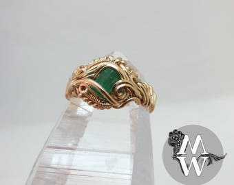 Raw Emerald Ring Size 6 3/4