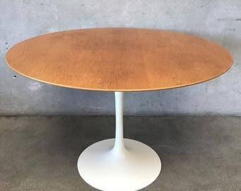Vintage MCM Oak Tulip Table (AVTCHP)