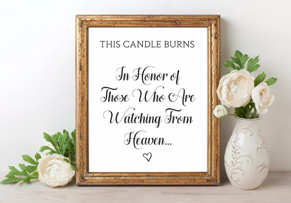 This is an image of Accomplished This Candle Burns in Loving Memory Free Printable