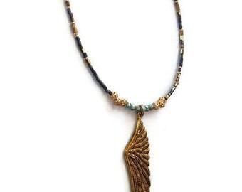 Long Beaded Necklace - Beaded Necklace - Beaded Necklace Handmade - Beaded Boho Necklace - Long Boho Necklace - Long Necklace