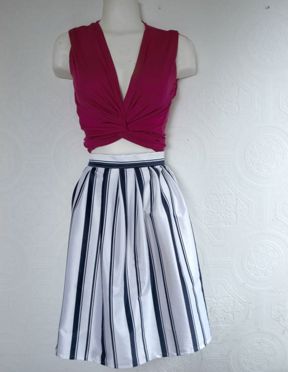 It Girl : High waist pleated skirt
