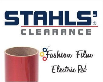 "15"" Firecracker Red - Stahls' Fashion-FILM Electric - Smooth - Craft Roll - Iron-on  Heat Transfer Vinyl - HTV"