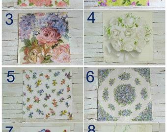Napkins for decoupage flowers (33x33cm)