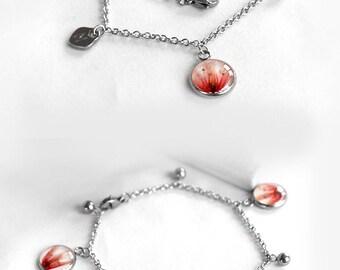 Personalized wedding gift for bridesmaid jewelry Bridal gift her Personalized jewelry Name gift Pink bracelet Name bracelet Initial bracelet