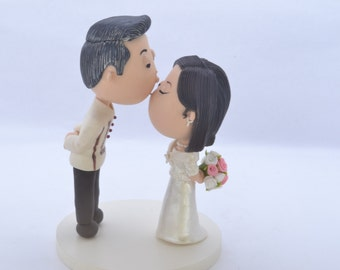 Wedding cake topper. Philippines couple. Handmade. Fully customizable. Unique keepsake