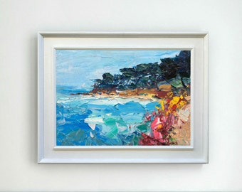 Beach Painting Oil Painting Beach Art Ocean Art Seascape Painting Canvas Art Home Decor Sea Painting Sand Painting Christmas Gifts for Women