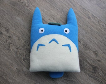 Totoro Cushion, (Blue), Totoro Pillow, Accent Cushion, Totoro Plush, Stuffed Animal, Totoro Toy, My Neighbor Totoro, Totoro Decor, Ghibli