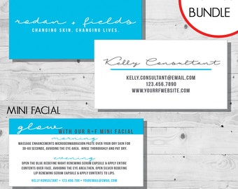 Rodan and Fields Business Card & Mini Facial Card | Digital Files | Customizable