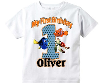 Finding Nemo Birthday  Shirt Any Age Personalized Shirt  Youth Toddler Infant Adult p44