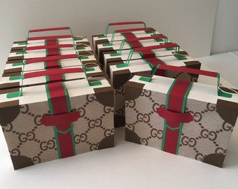 Gucci Suitcase Large favor  box party 6PC