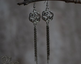 "Earrings "" Linaewen "" - Medieval, celtic, viking, elven"