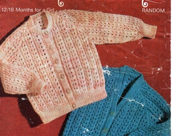 924ad7246d8c Baby cardigan vintage knitting pattern pdf digital download from ...