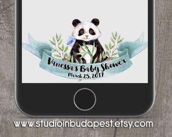SNAPCHAT GEOFILTER, panda Snapchat Geofilter, Baby shower geofilter, Snapchat filter, panda baby shower snapchat geofilter