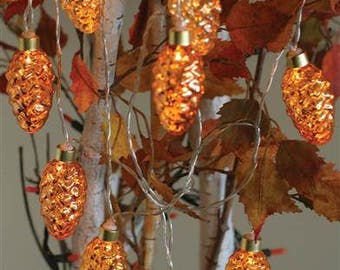 Pine Cone LED String Lights Garland - Fall Party Decor