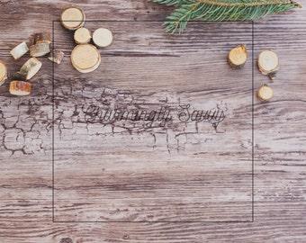 Square Styled Stock Photo | Christmas image | Wood background | Winter Image | Digital Background | Product Background | Digital Image CS407