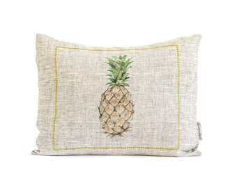Rustic Pineapple Pillow, Decorative Pillows, Throw Pillow, Gift For Her, Gifts For Mom, Kitchen Decor, Bedroom Pillow, Pineapple Bar