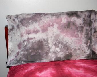 White, Grey, & Lavender Ice Dye Pillow Cases