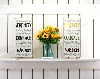 Serenity prayer sign God grant me the serenity 9x20