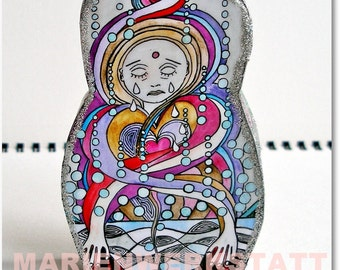 Buddha and baby (back) - small figure to the appliance, as a gift or special present