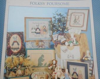 Folksy Foursome, Alma Lynne, Pattern Leaflet #63