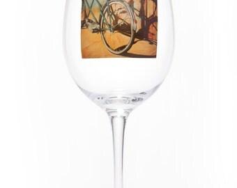 On the Wheel Single Wine Glass - Bluebird Tandem