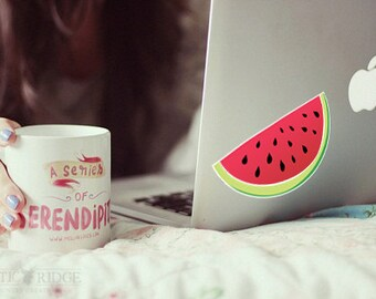 Watermelon Decal, Watermelon Sticker, Laptop Stickers, Laptop Decal, Car Decal, Car Sticker, Window Decal, Watermelon Decor, Vinyl Decal