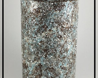 Unique Home Decor Pillar Candles, Decorative Candles, Taper Candles, Beach House Decor, New Home Gift, Housewarming Gift, Glitter Candles