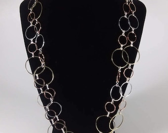 Multi Colored Hoop Necklace