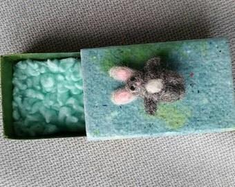 Extra mini bunny, tiny rabbit, Easter mini gift