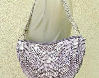 Purple Sparkly Flapper Clutch/Crossbody Bag