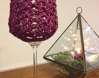 Shimmer Wine Cozy - Fuchsia