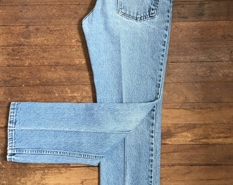 Vintage Roebucks Jeans | Retro Hippie Jeans | Boho Hipster Jeans | Light Washed Denim | Vintage Womens Jeans | Sears Jeans FREE SHIPPING US