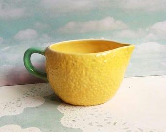 1960s Carlton Ware Lemon Jug - Novelty Shape - Lemon Peel effect