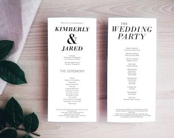 Adelaide wedding programs / Classic and elegant design / affordable printable wedding / digital file