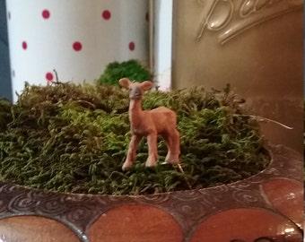 1 Miniature Doe deer for fairy garden / succulent garden / terrarium