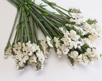 Statice etsy studio 3 or 6 pcs statice bush bundle bush white 21 5 heads per stem artificial florals supply faux wedding flowers centerpieces mightylinksfo