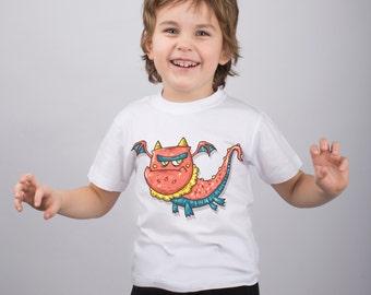 Dragon Shirt Boys Shirt Kids Tshirt Animal  Shirt Animal Baby Boys Tshirt Graphic Shirt Baby Girls Shirt Childs Shirt Graphic Shit PA1128