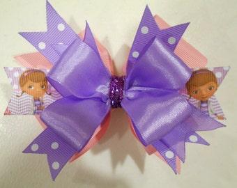 Disney Doc McStuffins Handmade Boutique Layered Hair Bow