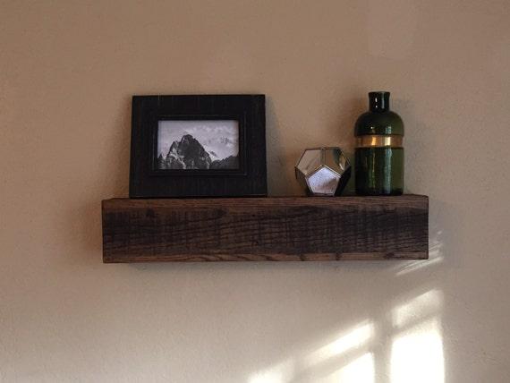 22 floating shelf reclaimed wood shelves pallet wood for Pallet floating shelves
