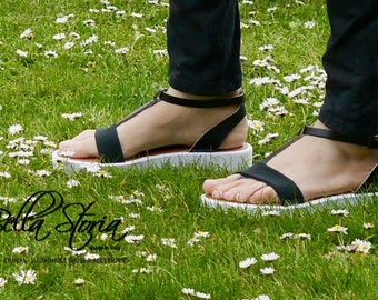 Vegan sandal Gemma on Nettle-Made in Italy-Bacon Vegan shoes