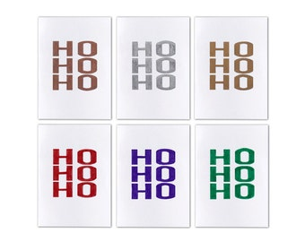 Set of 6 A6 Hand Drawn Cards - Ho Ho Ho - Christmas Cards - Australian Made