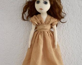 Handmade art Doll OOAK Textile art Handmade Soft sculpture doll textile