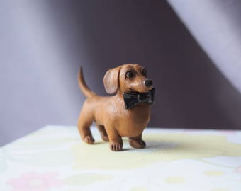 Custom made miniature pet statuette Pet portrait Dog Cat sculpture Animal figurine Pet pendant Charm Animal totem Tiny animal Gift idea