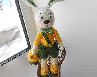 Crochet bunny Easter Bunny with Egg Easter gift  Stuffed toy Easter decor Crochet rabbit Easter bunny Gift Stuffed bunny handmade toy decor
