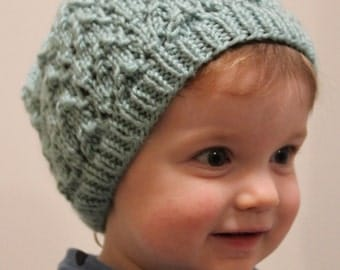 Hand Knit Lace Hat